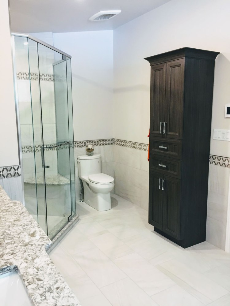 Custom cabinet in bathroom