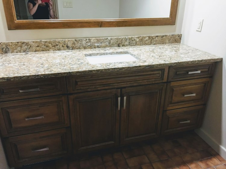 Custom cabinets and counter tops