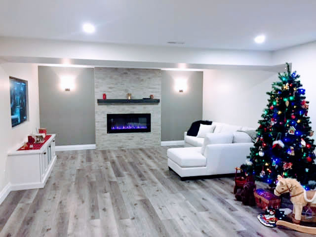 Fully renovated basement